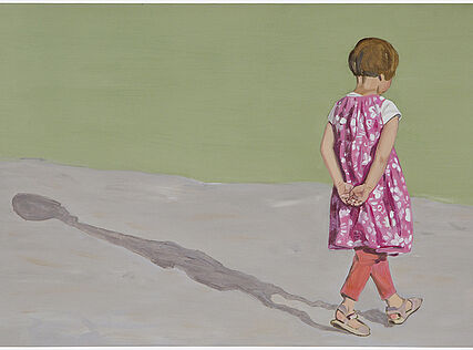Girl and Shadow, 32 x 47 cm, Öl auf Holz, 2014